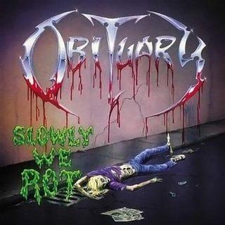 Aux portes du metal chronique d 39 album metal obituary slowly we rot death metal album review - Aux portes du metal ...